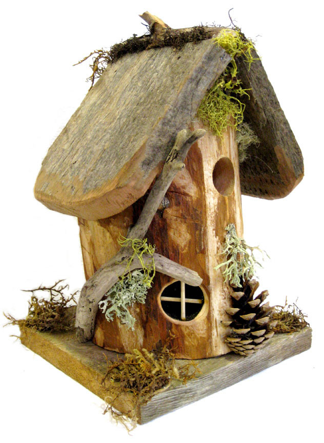 Hobbit style birdhouse whimsical woods for Bird house styles