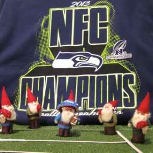 Gnomes support Seattle Seahawks!