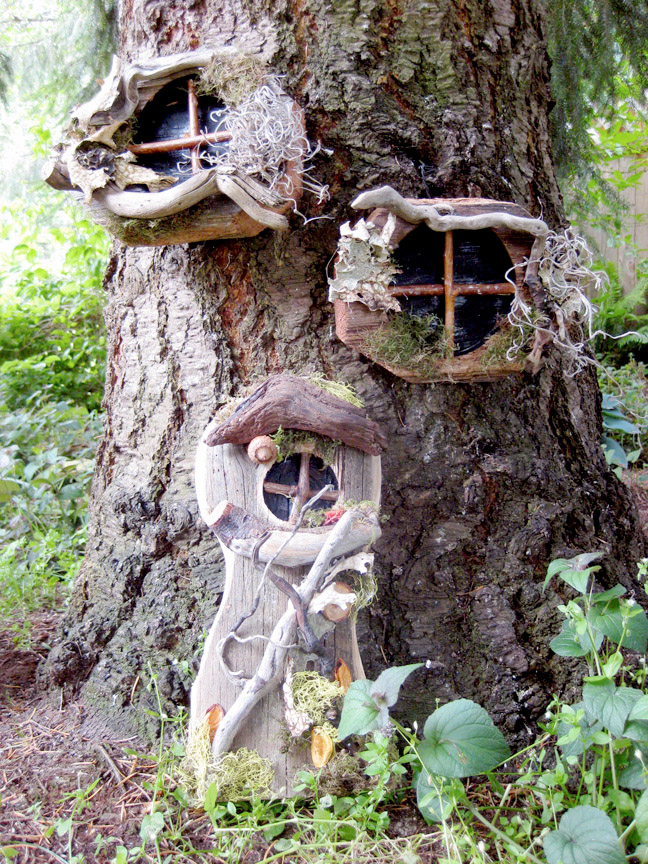 Gnome door gnome windows package whimsical woods for Large gnome doors